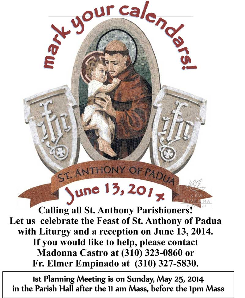 Feast of St. Anthony of Padua