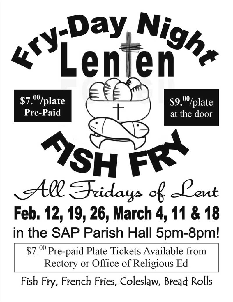 Fish Fry Fry Day Night All Fridays Of Lent